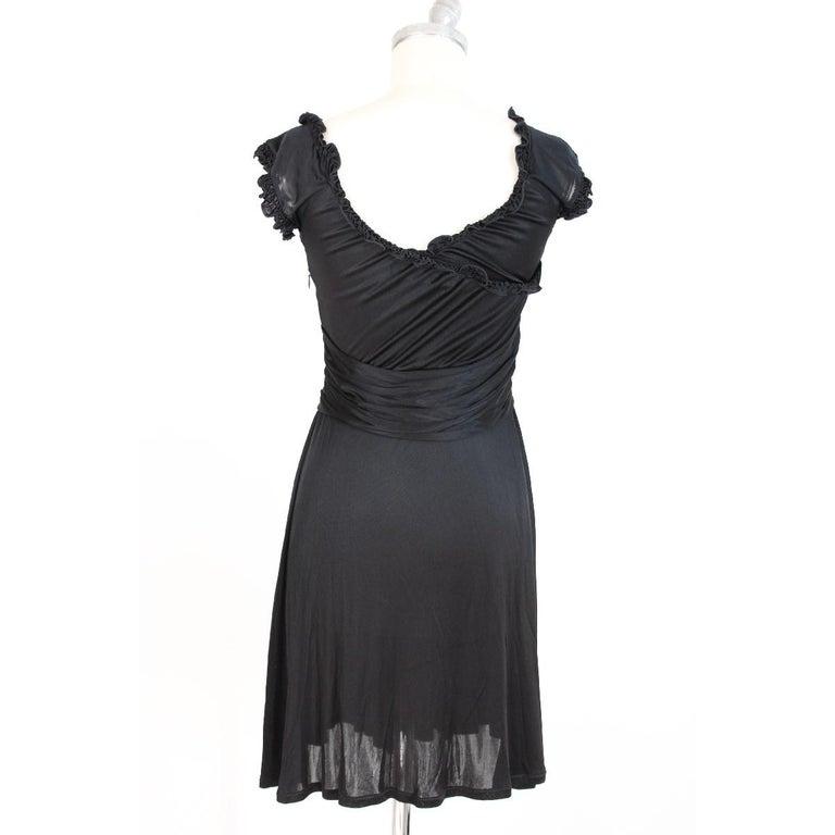 Blumarine Vintage Black Evening Dress