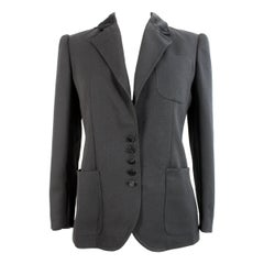 1980s Valentino Boutique Black Wool Velvet Tuxedo Jacket