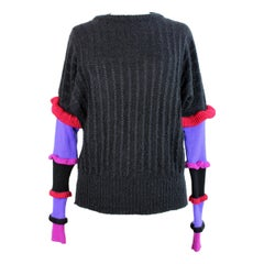 1980s Roccobarocco Black Wool Mohair Sweater