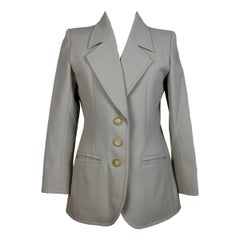 1990s Yves Saint Laurent Rive Gauche Gray Wool Jacket