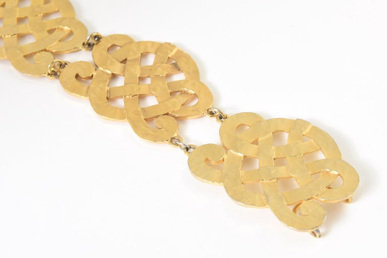 Chanel Wide Gold Plated Arabesque Style Medallion Belt For Sale 2