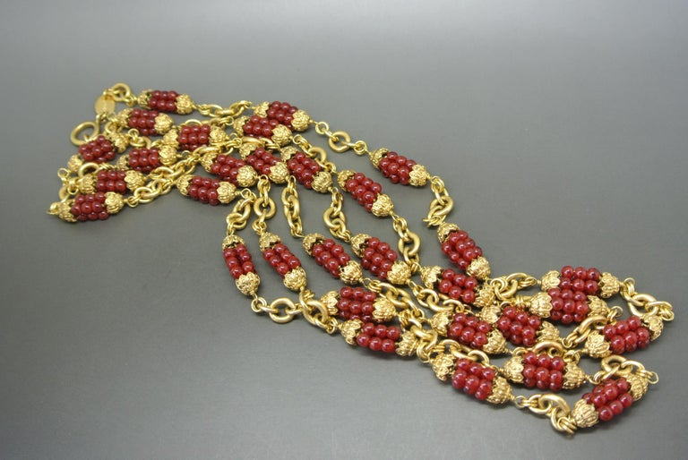 Chanel Necklace Signed and dated 60s Designed by Robert Goossens