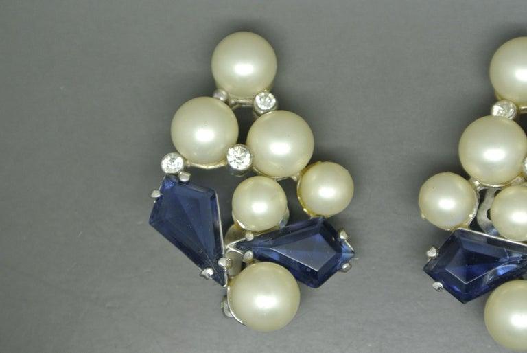 Schiaparelli earrings Dated 1950s