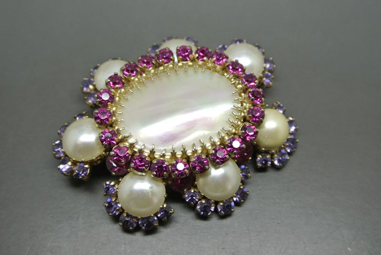 French Designer Cis Countess Brooch very rare design  unsigned  But craftsmanship confirms it is attributed to Cis
