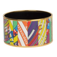HERMES multicolor enamel XL ASTROLOGIE NOUVELLE Bangle Bracelet