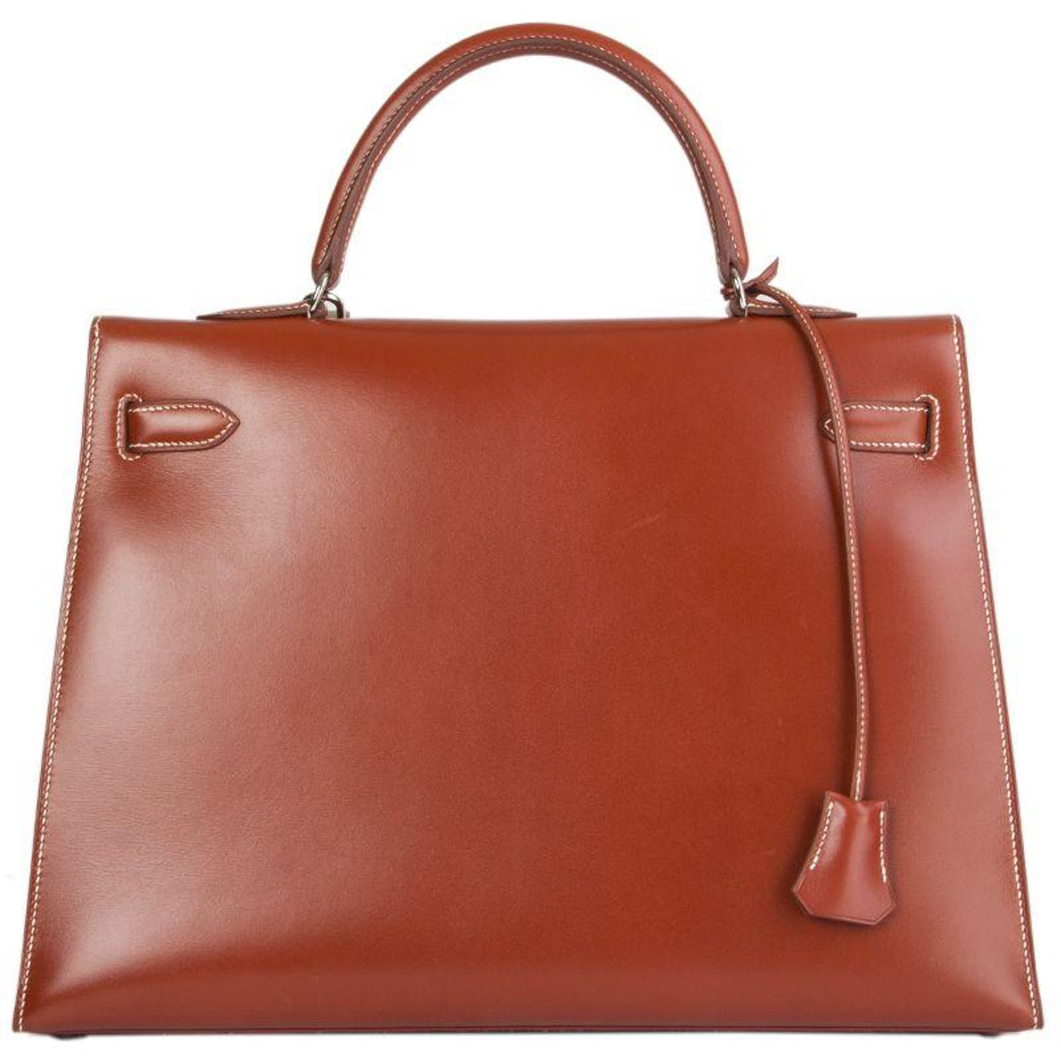 3d2824a28684 HERMES Brique red Box KELLY II 35 SELLIER Bag at 1stdibs