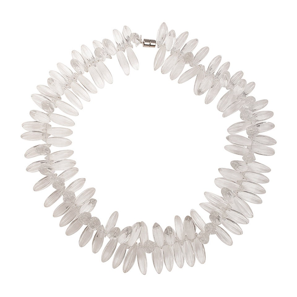 Faceted Lucite Necklace 1