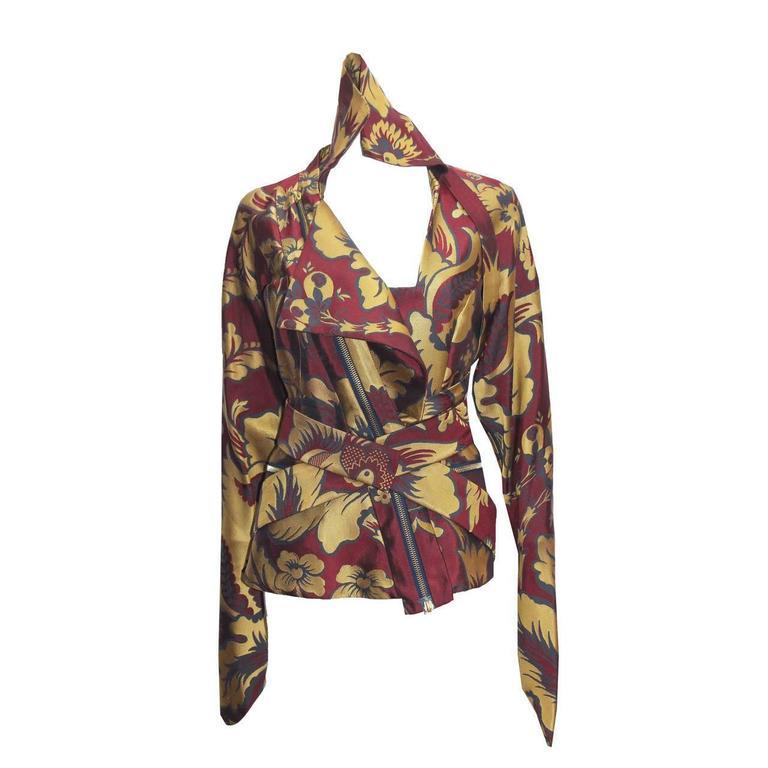 Vivienne Westwood silk brocade bondage jacket, c. 1994-96 1