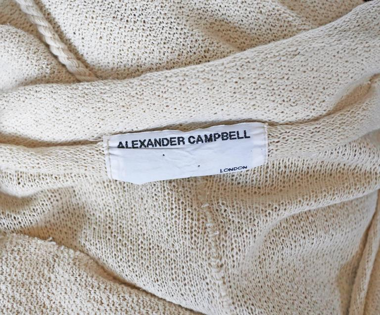 Alexander Campbell knitted caftan, c. 1990s 6