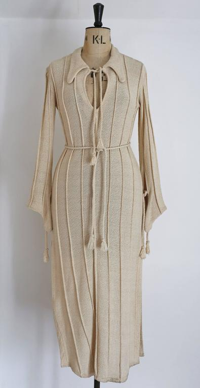 Alexander Campbell knitted caftan, c. 1990s 2