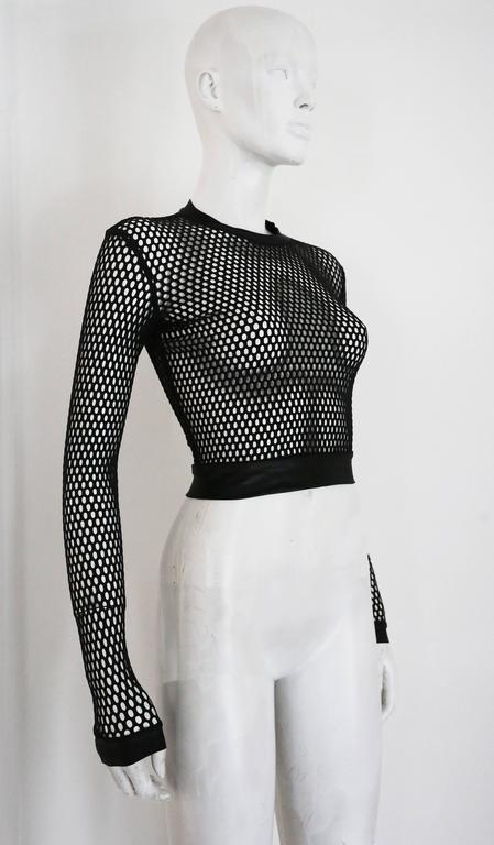 Pam Hogg mesh cropped sweater, c. 1990s 2