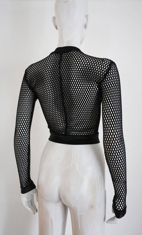 Pam Hogg mesh cropped sweater, c. 1990s 3