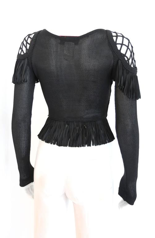 Christian Lacroix knitted caged evening sweater, c. 1990s 4