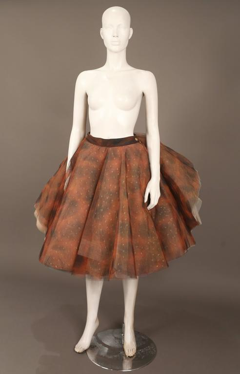 """Brown Vivienne Westwood 'EXPLOSION"""" tulle skirt, c. 1993 For Sale"""