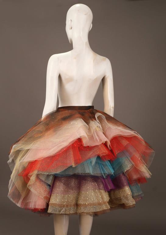 "Women's Vivienne Westwood 'EXPLOSION"" tulle skirt, c. 1993 For Sale"