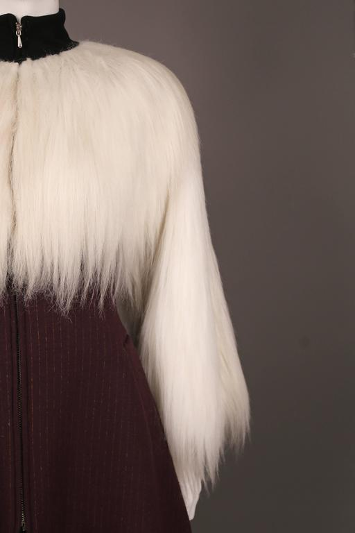 Jean Paul Gaultier faux fur dress coat, c. 1993 8