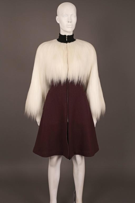 Jean Paul Gaultier faux fur dress coat, c. 1993 2