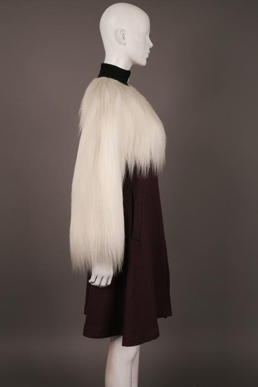 Jean Paul Gaultier faux fur dress coat, c. 1993 3