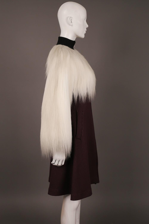 Jean Paul Gaultier Faux Fur Dress Coat C 1993 For Sale