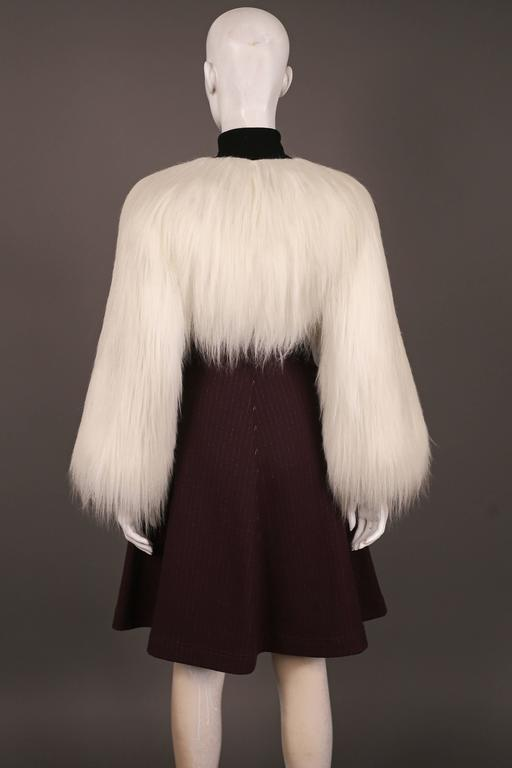 Jean Paul Gaultier faux fur dress coat, c. 1993 4