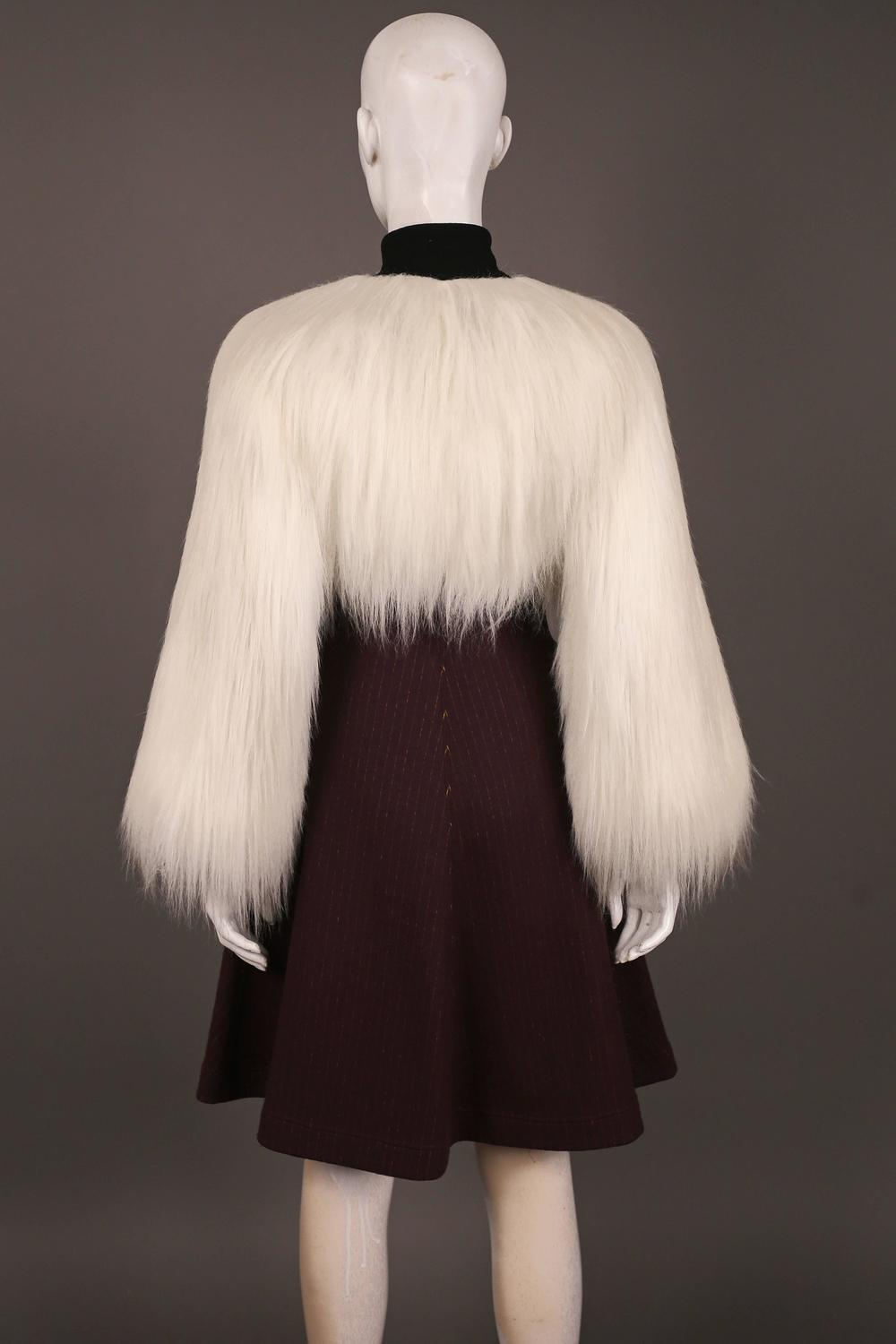 Jean Paul Gaultier Faux Fur Dress Coat C 1993 For Sale