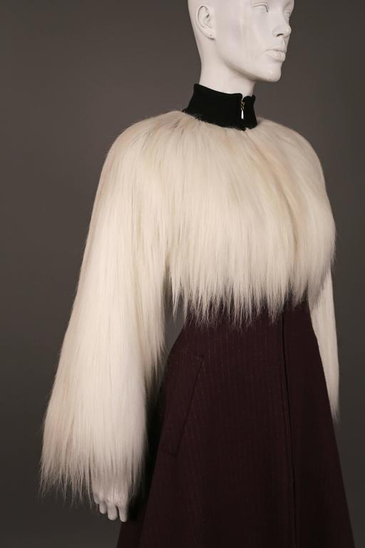 Jean Paul Gaultier faux fur dress coat, c. 1993 5