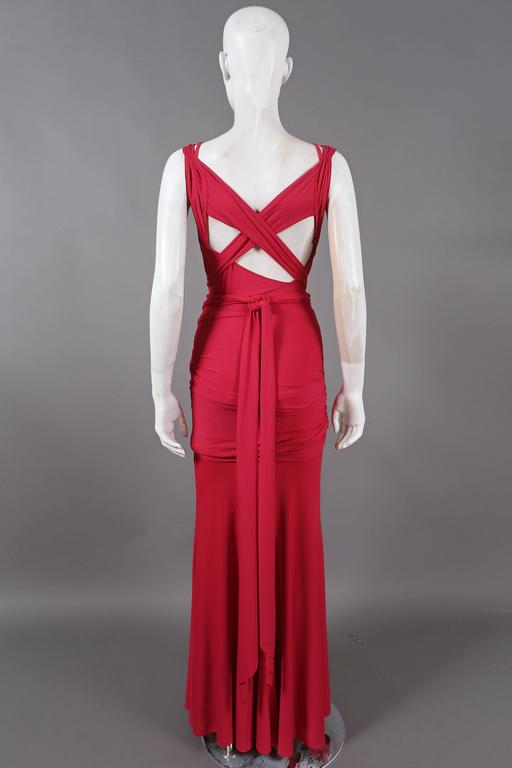 Donna Karan knotted jersey evening dress, C. 2005 In Good Condition For Sale In London, GB