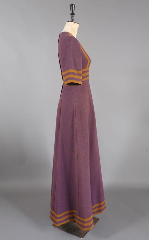 Jean Varon tweed maxi dress, c. 1960s 3
