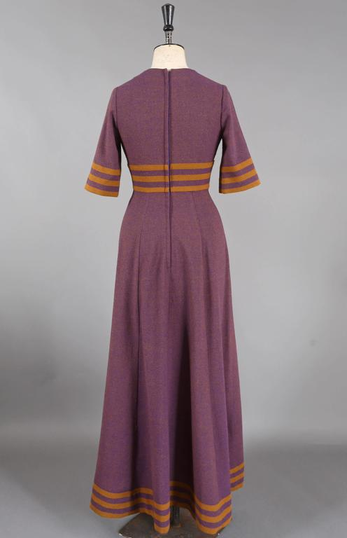 Jean Varon tweed maxi dress, c. 1960s 5