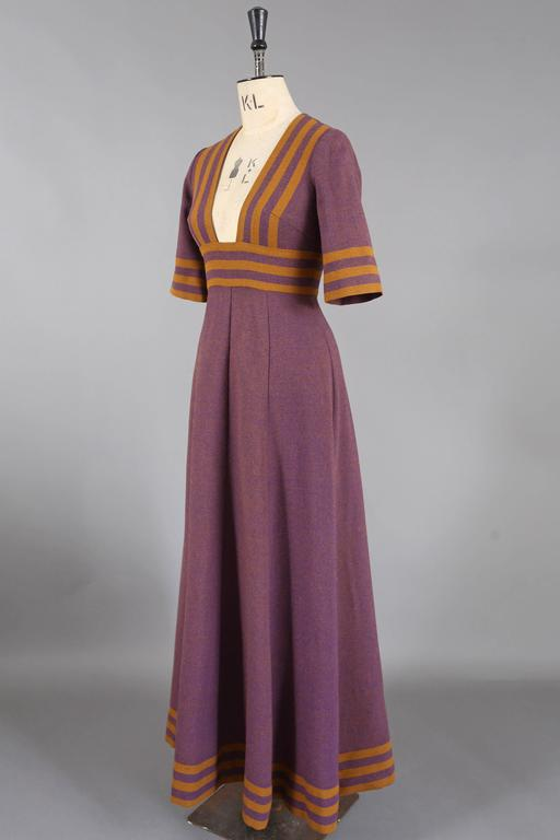 Jean Varon tweed maxi dress, c. 1960s 2