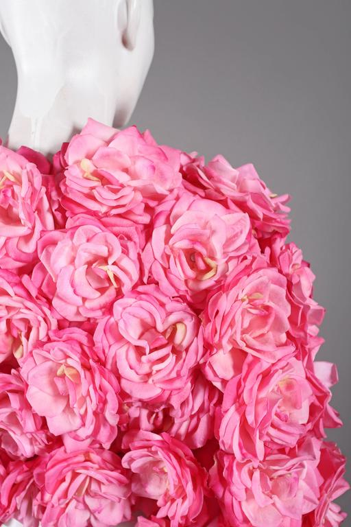 Oversized bolero jacket adorned in real touch pink roses For Sale 2
