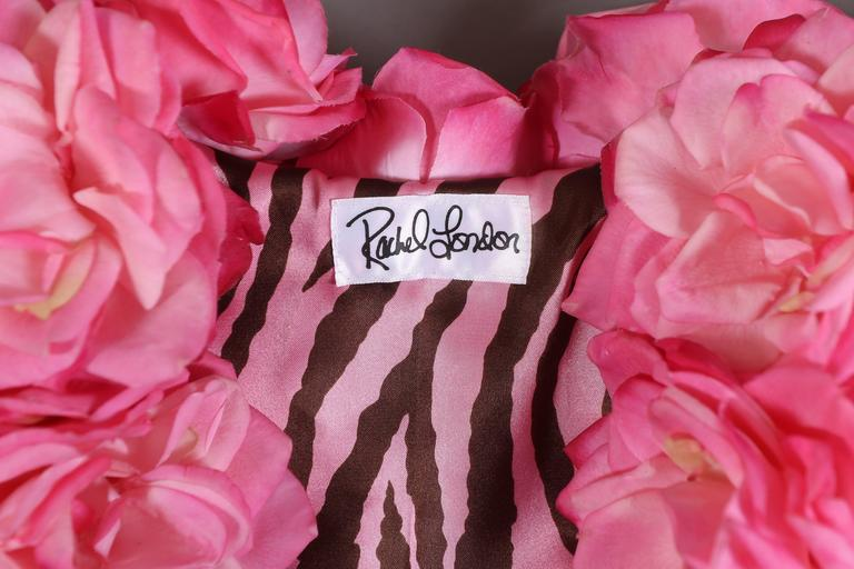 Oversized bolero jacket adorned in real touch pink roses For Sale 4