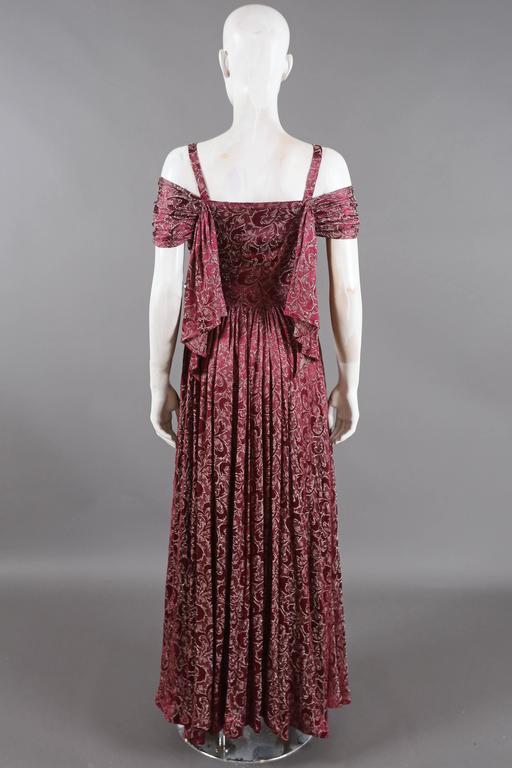 Bias cut off-the-shoulder lamé silk evening dress, C. 1930s 3