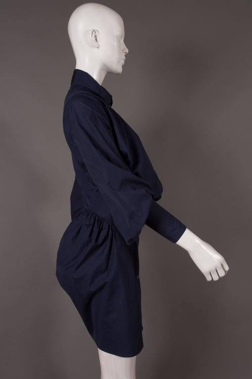 Vivienne Westwood bustle shirt dress, C. 1990s In Excellent Condition For Sale In London, GB