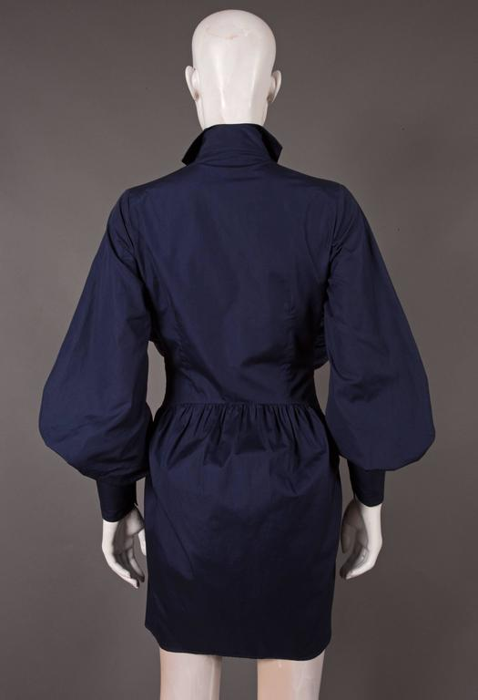 Women's Vivienne Westwood bustle shirt dress, C. 1990s For Sale