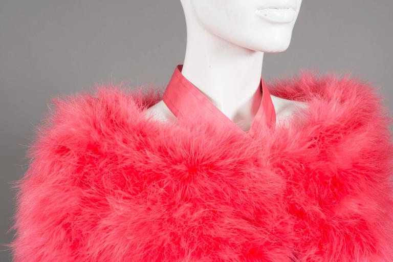 Pink Gucci by Tom Ford hot pink marabou evening bolero jacket, C. 2004 For Sale