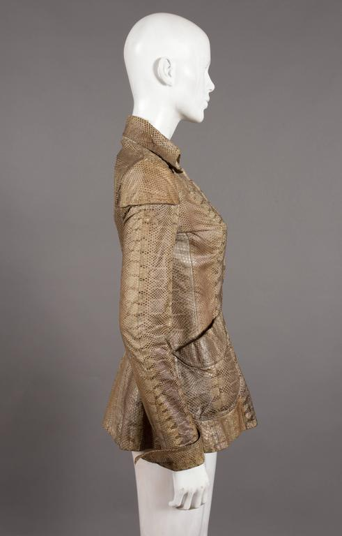 Ossie Clark snakeskin jacket, c. 1967 In Good Condition For Sale In London, GB