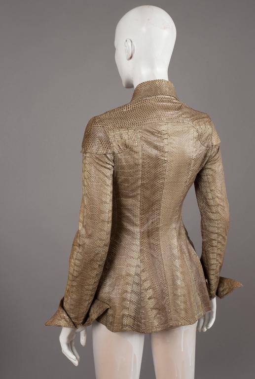Women's Ossie Clark snakeskin jacket, c. 1967 For Sale
