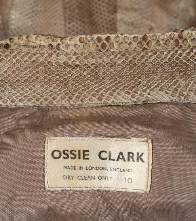 Ossie Clark snakeskin jacket, c. 1967 For Sale 3