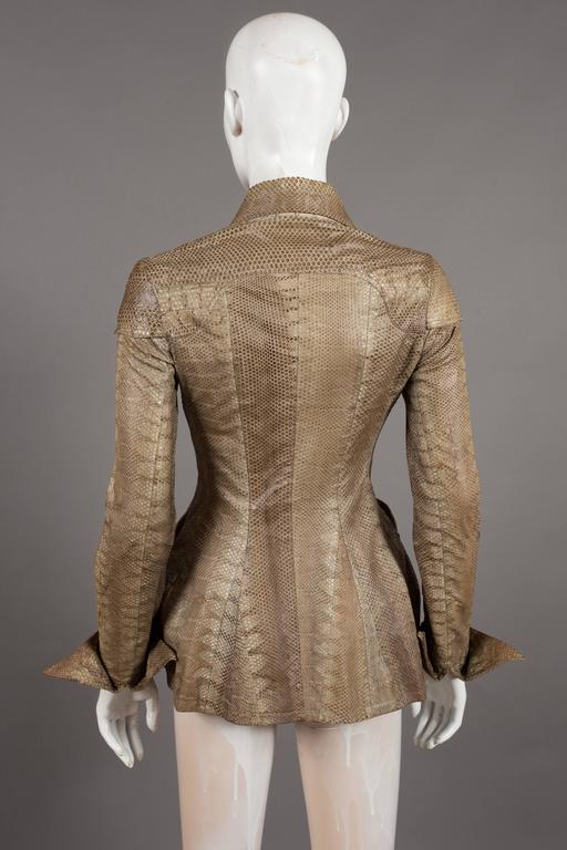 Ossie Clark snakeskin jacket, c. 1967 6