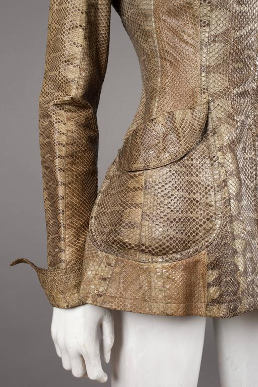 Ossie Clark snakeskin jacket, c. 1967 7