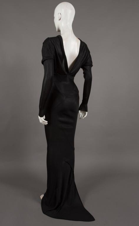 Alaia bias cut evening dress with low back, c. 1986 3
