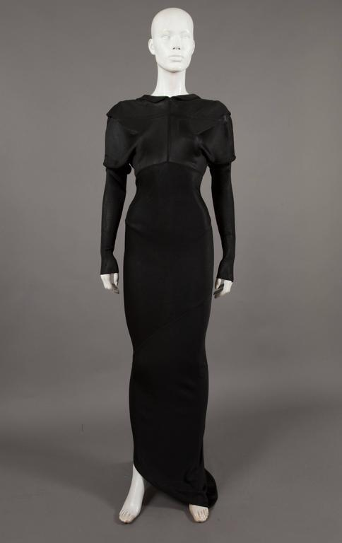 Alaia bias cut evening dress with low back, c. 1986 4