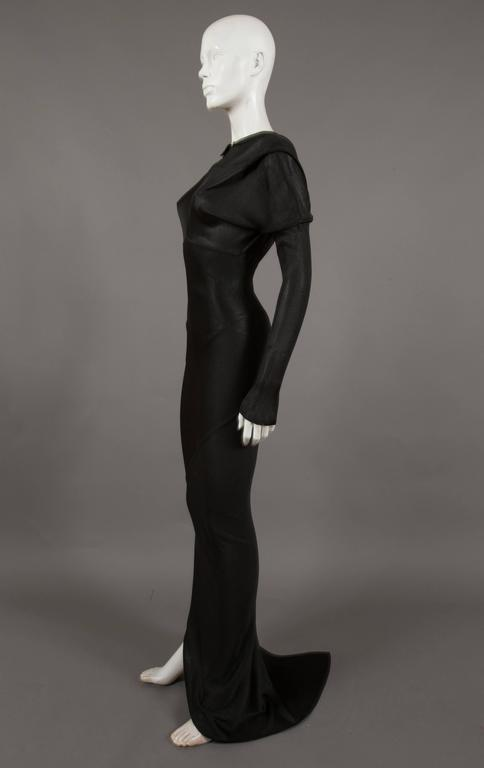 Alaia bias cut evening dress with low back, c. 1986 5