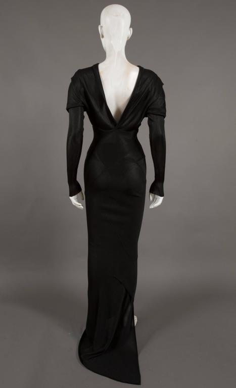 Alaia bias cut evening dress with low back, c. 1986 2