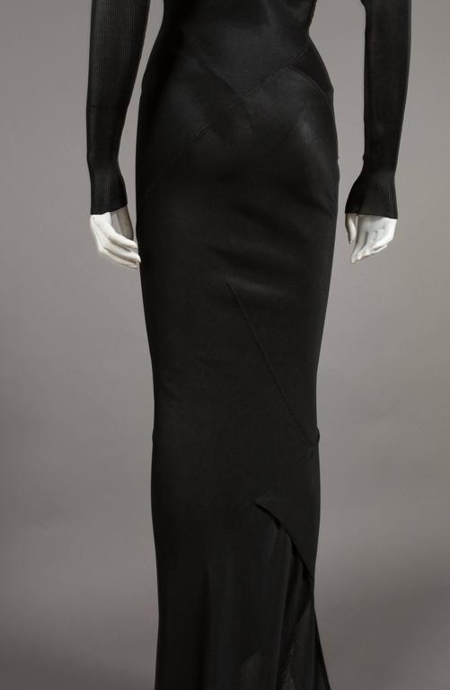 Alaia bias cut evening dress with low back, c. 1986 6