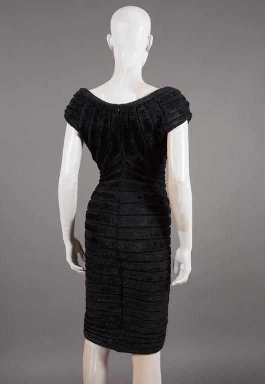 Alaïa black chenille-knitted evening gown, 'Houpette', C. 1994 For Sale 1