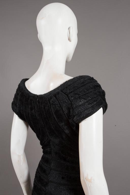 Alaïa black chenille-knitted evening gown, 'Houpette', C. 1994 For Sale 2