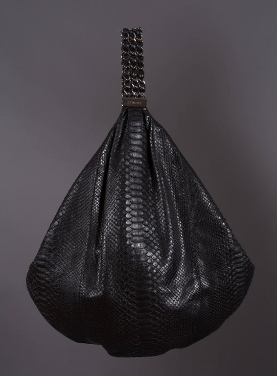 Chanel Large Black King Python Hobo Bag, c. 2007 5