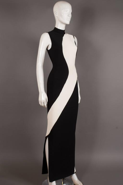 Herve Leger bias cut bandage evening dress, Circa 1996 3